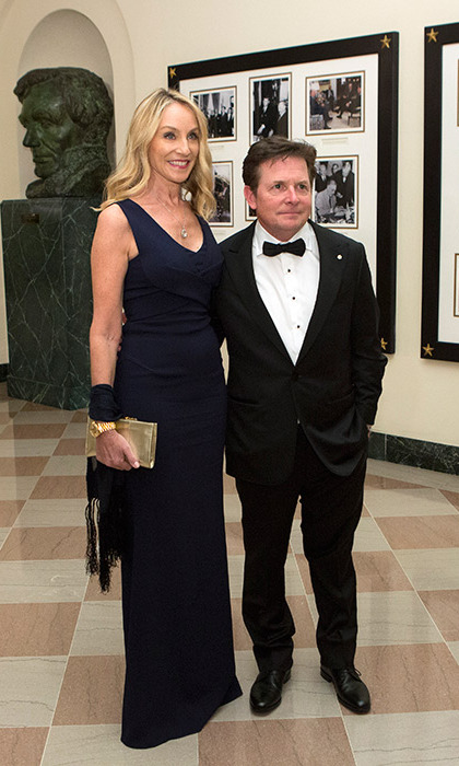 <i>Back To The Future</i> actor Michael J Fox and his partner Tracy Pollan were amongst the guests invited to the special evening.