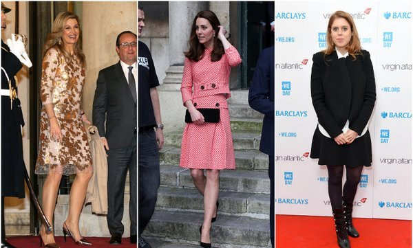 From Kate Middleton's chic day dresses to Queen Maxima of the Netherlands' glam eveningwear, get caught up on all the best royal looks of the week.