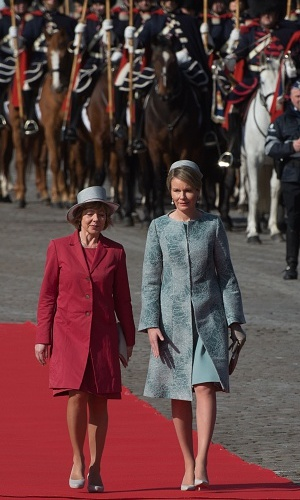 Queen Mathilde of Belgium, right