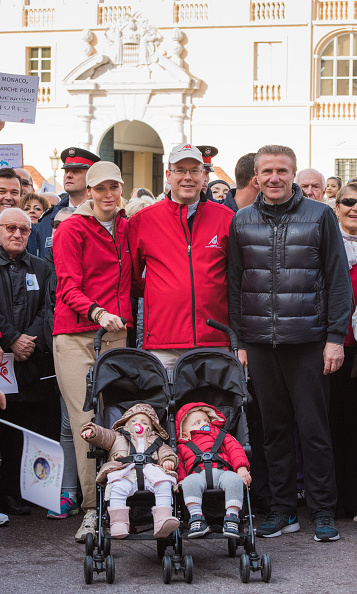 Although they weren't walking, Princess Gabriella and Prince Jacques still were able to take part in an environmental march.  