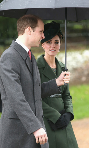 The Duchess of Cambridge looked chic and festive on Christmas Day, wearing her long belted green coat by Sportmax as she made her way to church services with Prince William.