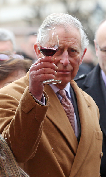 Cheers to you! Prince Charles tasted local wines at a market, while in Osijek with wife Camilla as part of their two-day tour of Croatia.