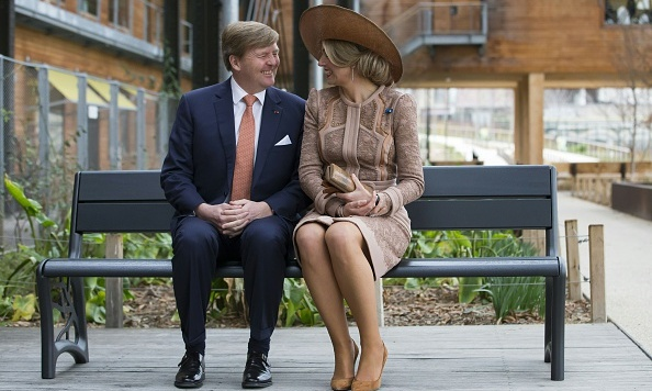 The city of love! King Willem-Alexander and Queen Maxima of the Netherlands shared a tender moment in Paris sitting on a bench they gifted to a youth association.