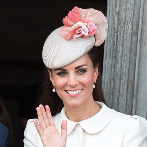 Beautiful in blush pink, Prince William's wife once again wore Jane Taylor to an event in Belgium.