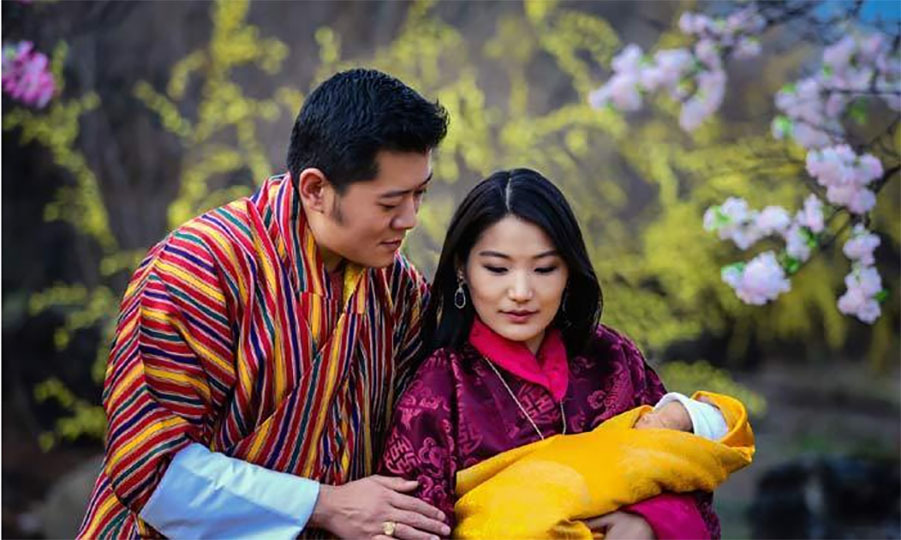 King Jigme and Queen Jetsun welcomed their son Jigme Namgyel Wangchuck on February 5. 