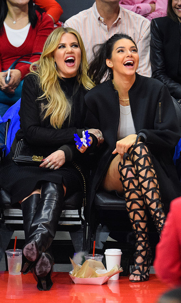 The Houston Rockets and Los Angeles Clippers might have been playing, but sisters Khloe Kardashian and Kendall Jenner, along with their fabulous footwear, were the ultimate dream team.