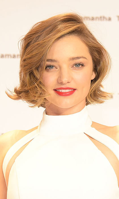 Miranda Kerr recently debuted her new shorter 'do and we're loving it. The model opted for a graduated look to complement her high cheekbones.