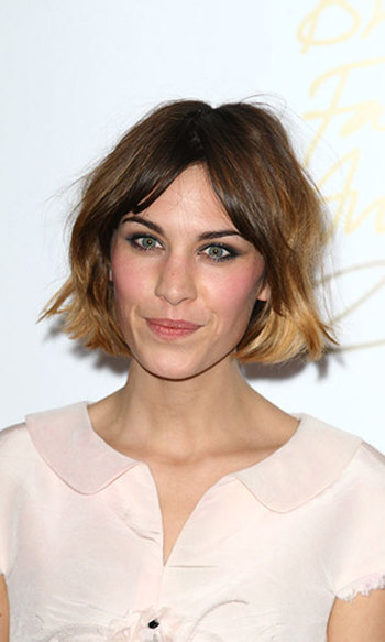 Alexa Chung has always been a fan of a short hairstyles and we love this short textured bob. The hairstyle perfectly suits Alexa's flirty and fun personality.