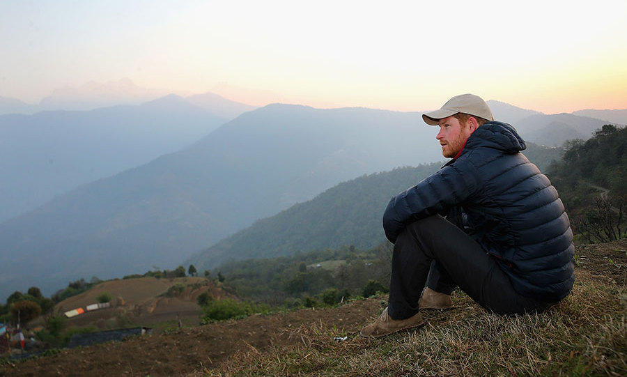 Harry spent the previous night with a Nepalese family and woke early to watch the sunrise.