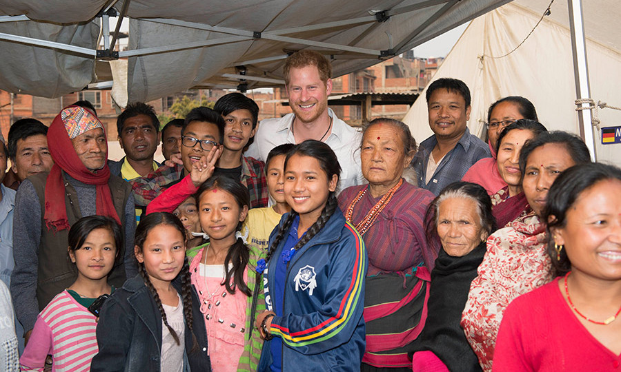 The royal traveled to Nepal to visit areas hit by the 2015 earthquakes.