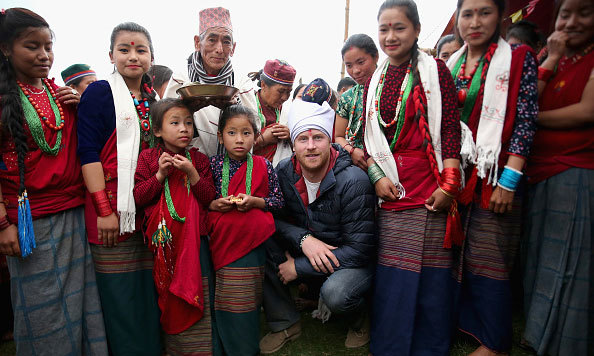 Prince Harry was honored as 'village head man' to meet with Leorani villagers in the Himalayan foothills.