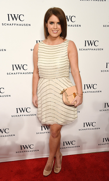 A proper princess. Eugenie was ready for her close up in a creme embellished mini, while attending the IWC Schaffhausen third Annual 'For the Love of Cinema' Gala during the Tribeca Film Festival.