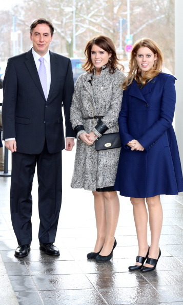Eugenie and Beatrice look just as stylish whether or not they're on royal duty! The sisters donned sophisticated coats to meet with Minister President David McAllister in Hanover during their visit to Germany. 