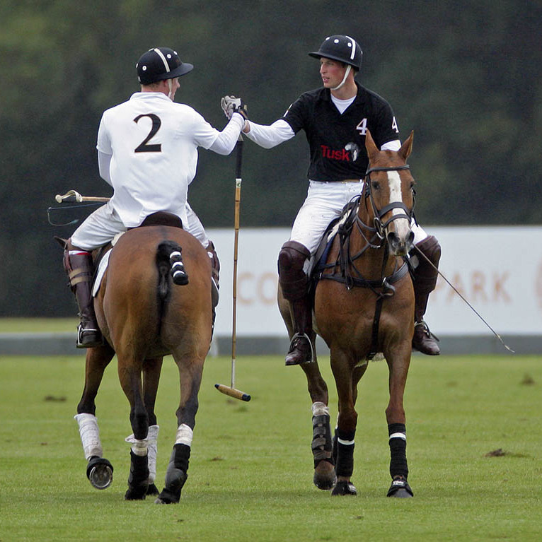 Friendly competition! William and Harry proved that there is still love between them with a friendly handshake after  competing against each other in the Sentebale Polo Cup polo match at Coworth Park.