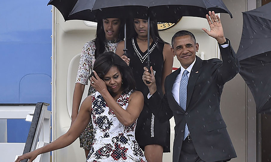 March 20: The Obamas on day one of their visit to Cuba. 