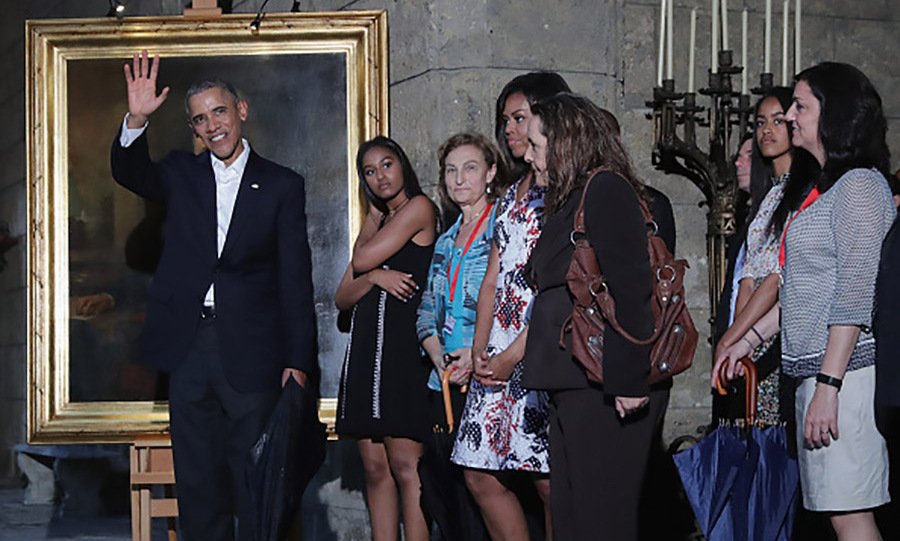 March 20: The first family visited a local museum together.