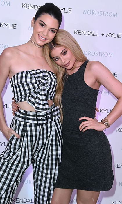 March 24: Sisters by blood, partners by choice! Kendall and Kylie Jenner were extra cute during the Kendall + Kylie Collection at Nordstrom private luncheon at the Chateau Marmont in West Hollywood. 