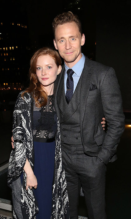 March 24: Tom Hiddleston got close to on-screen love interest Wrenn Schmidt during the Cinema Society with St-Germain screening event for <i>I Saw the Light</i> in NYC. 