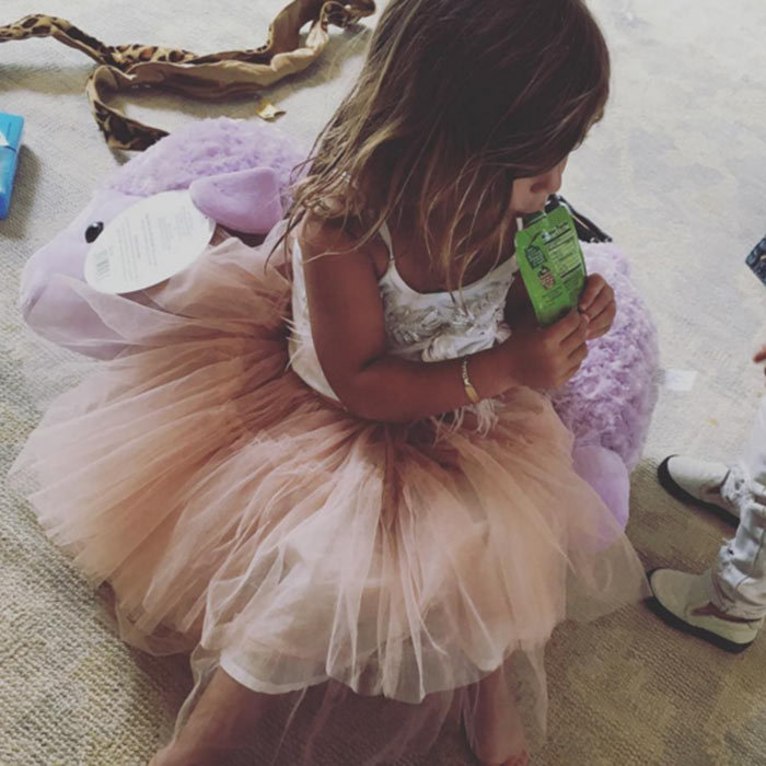 Penelope Disick looked so cute wearing a light pink tutu for the Kardashian Easter egg hunt.