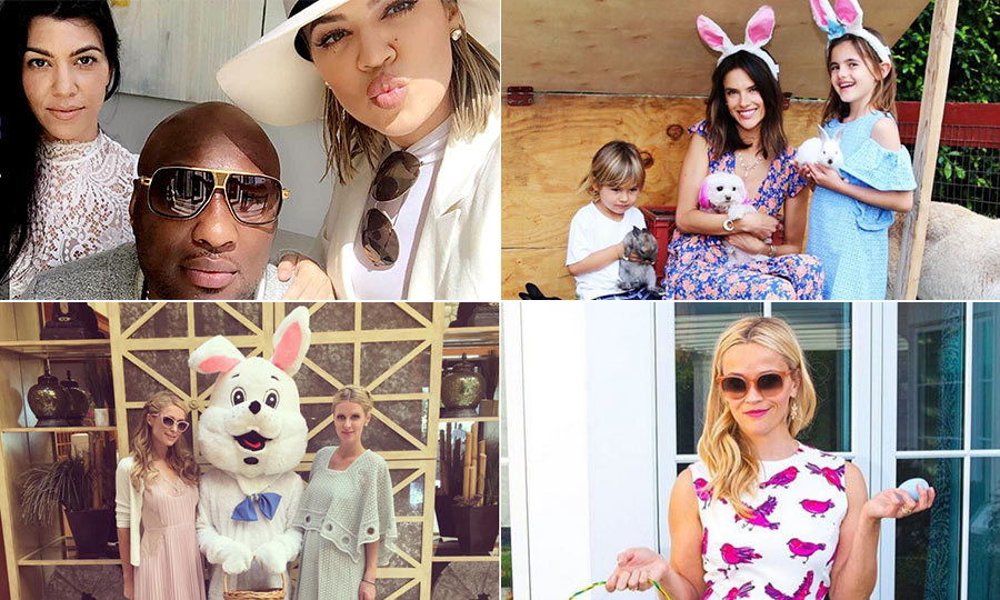 While some celebrities attended morning church services, others were running around the garden searching for chocolate eggs with their children. All however, seemed to gave a great Easter weekend.