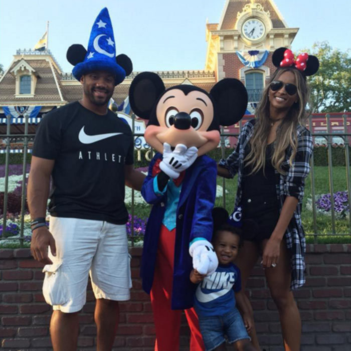 Ciara and fiancé Russell Wilson spent Easter weekend at the 'Happiest Place on Earth' with her son Future Jr.