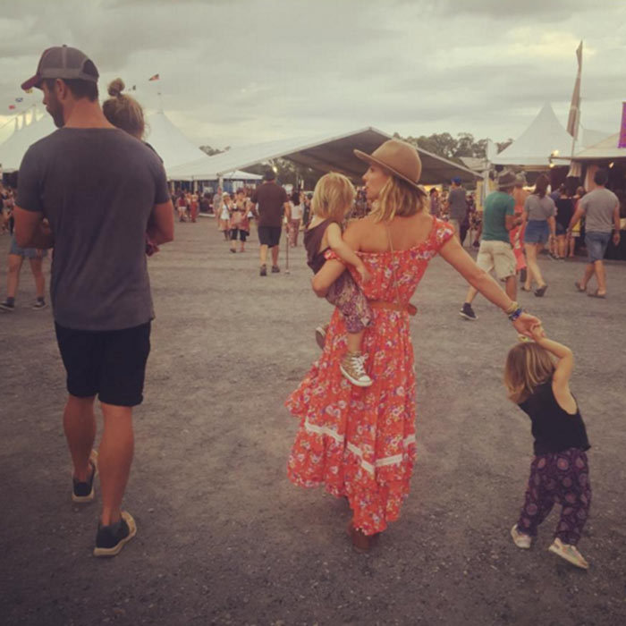 Chris Hemsworth and wife Elsa Pataky decided to do something different this Easter and attended a music festival with their kids.