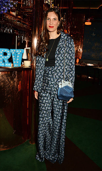 Tatiana Santo Domingo looked right on trend in her print pantsuit when she stepped out to attend a dinner to celebrate the Prismick Denim collection.
