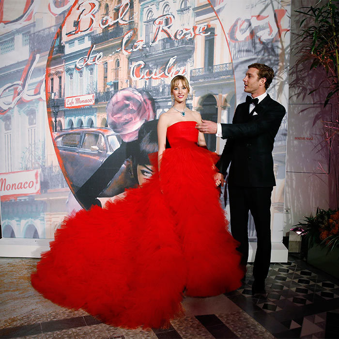 Belle of the ball Beatrice Borromeo stood out from the crowd at the Rose Ball, stunning in a sleeveless Giambattista Valli haute couture dress.