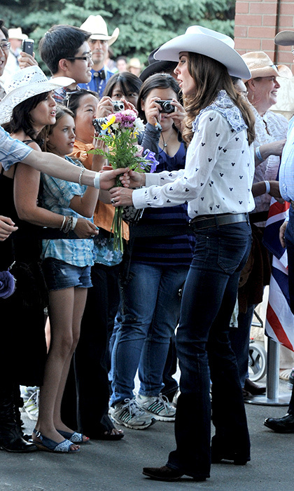 Kate fit right in with the crowds of cowboys and cowgirls at the 2011 Calgary Stampede in Canada.