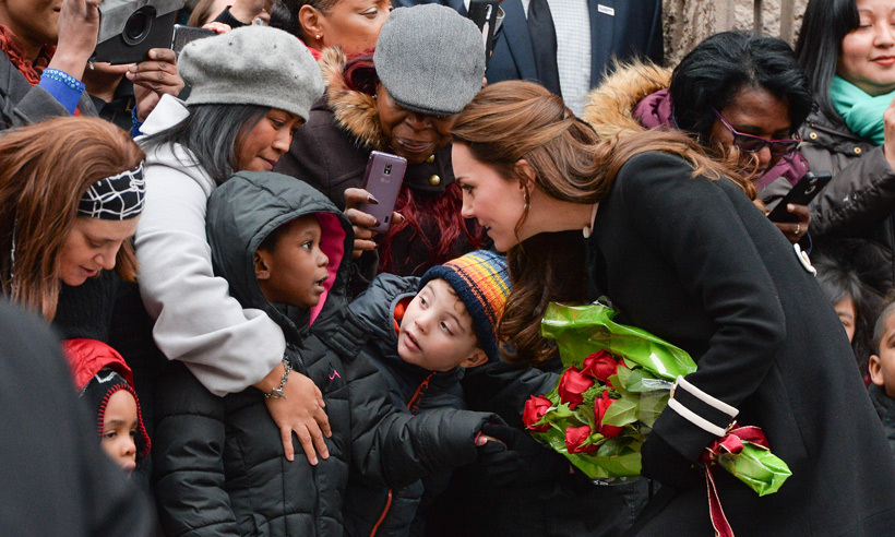 After spending some time at the Northside Center for Child Development in New York City, Kate took some time to chat with a group of kids who were especiallly excited to see her. 