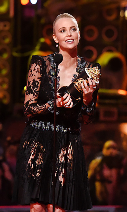"<i>Mad Max</i>'s Charlize Theron for the win! The actress dedicated her award for Best Female Performance to her daughter August, whom she called, ""My own little Furiosa.""