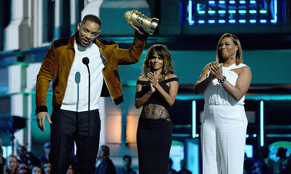 The <i>fresh prince</i> of the awards! Will looked better than ever while accepting the  MTV Generation Award with the help of pals Halle Berry and Queen Latifah. 