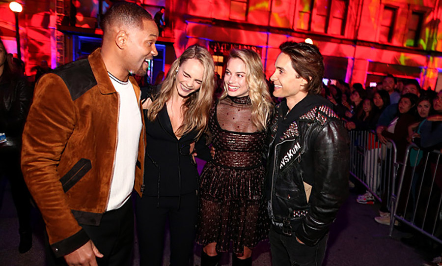 Squad goals! Will Smith, Cara Delevingne, Margot Robbie and Jared Leto premiered a brand new trailer for their upcoming film <i>Suicide Squad</i>. 