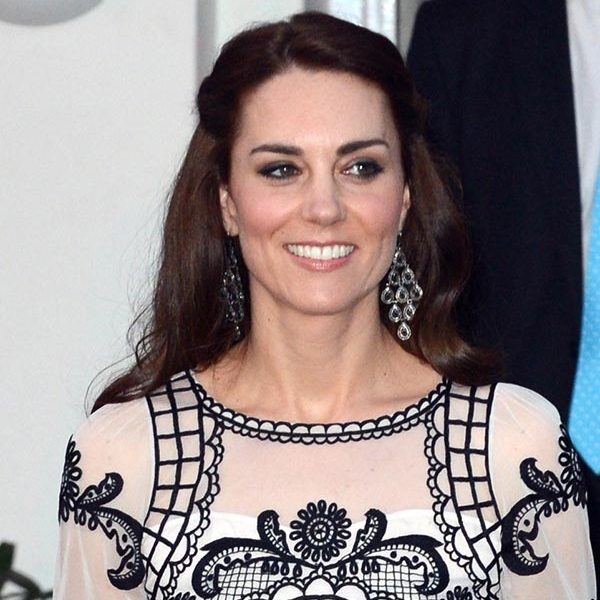 The Duchess wowed with a simply chic style as she headed to a garden party in New Delhi, held in honor of Queen Elizabeth's upcoming 90th birthday.