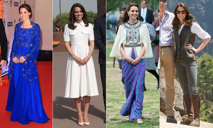 Kate Middleton's royal tour of India and Bhutan fashion ...