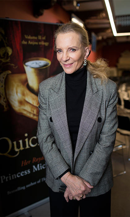 Author Princess Michael of Kent, wife of Queen Elizabeth's cousin, was excited to present her new book <i>Quicksilver</I> at a literary festival in Oxford, England.