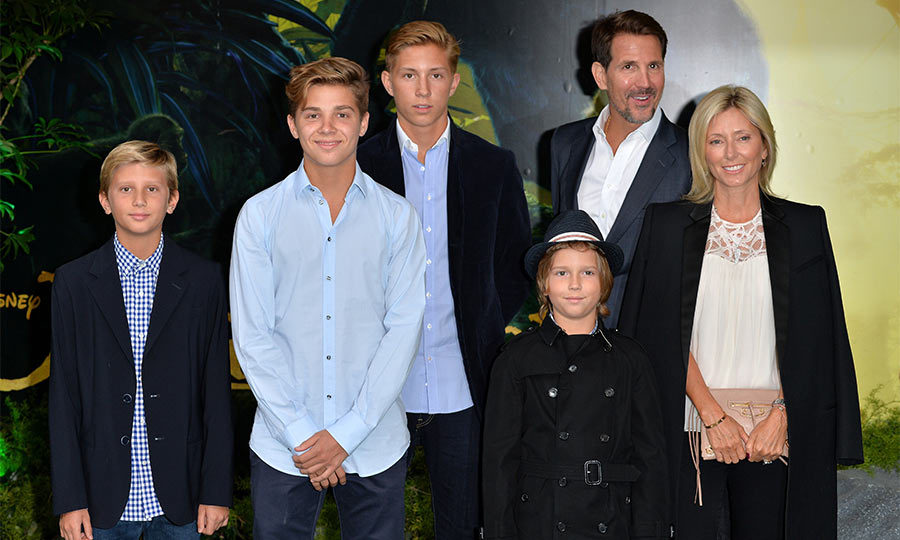 Family outing! Crown Princess Marie-Chantal of Greece and her husband Crown Prince Pavlos took out their four sons to the European premiere of the <i>Jungle Book</i>.