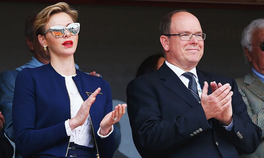 Game, set, match! Prince Albert and wife Princess Charlene of Monaco watched Rafael Nadal defeat Gael Monfils at the Monte Carlo Rolex Masters.