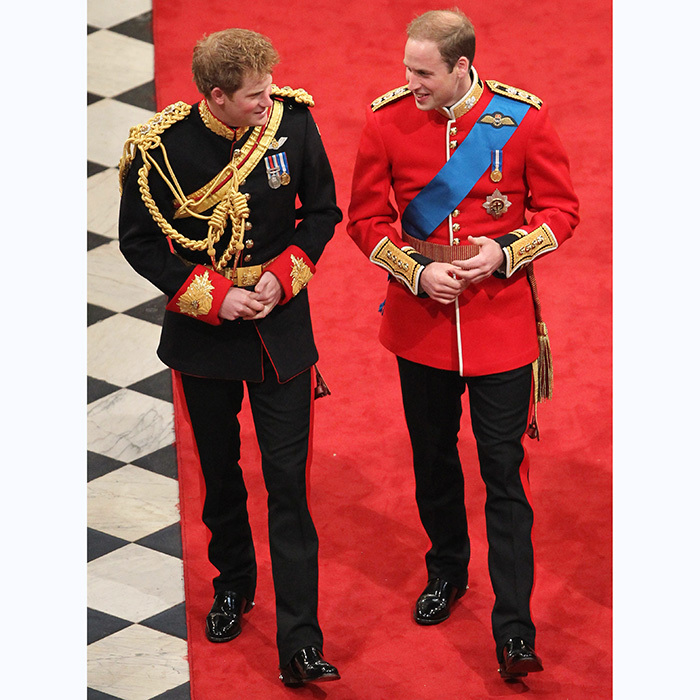 Prince Harry walked nervous groom Prince William to the altar on his 2011 wedding day.