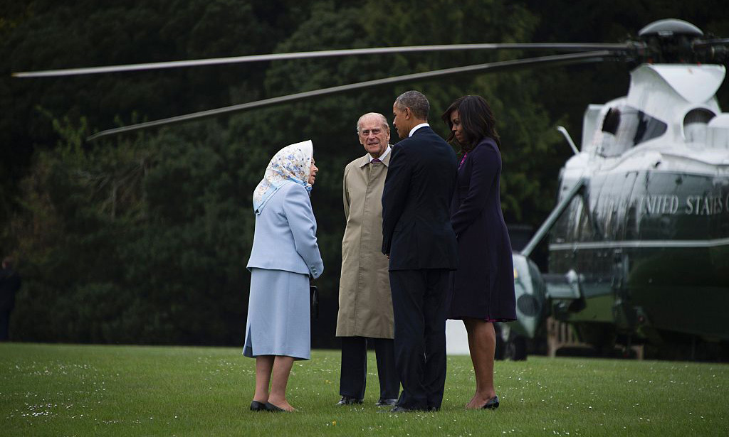 To be a fly on that helicopter as the royals and Americans chatted on the grounds! Perhaps President Obama brought up his side of the debate for the United Kingdom to remain in the European Union.