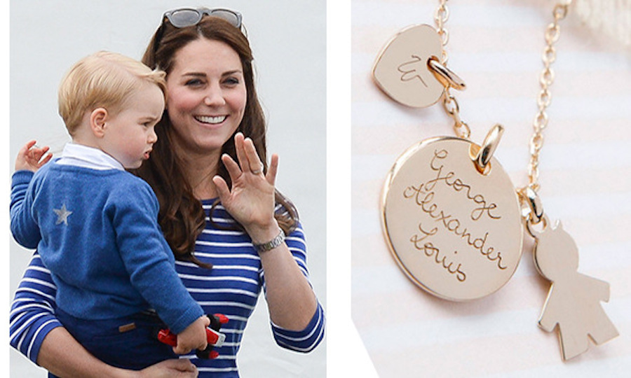 Kate middleton beyonc jennifer aniston and more stars who love kate middleton snagged her own namesake necklace by merci maman after the arrival of prince george aloadofball Gallery