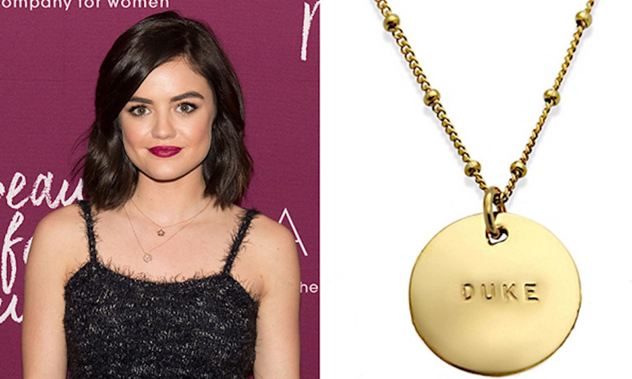 Celebrity Monogram Necklace 14K Gold Plated - Iselice ...