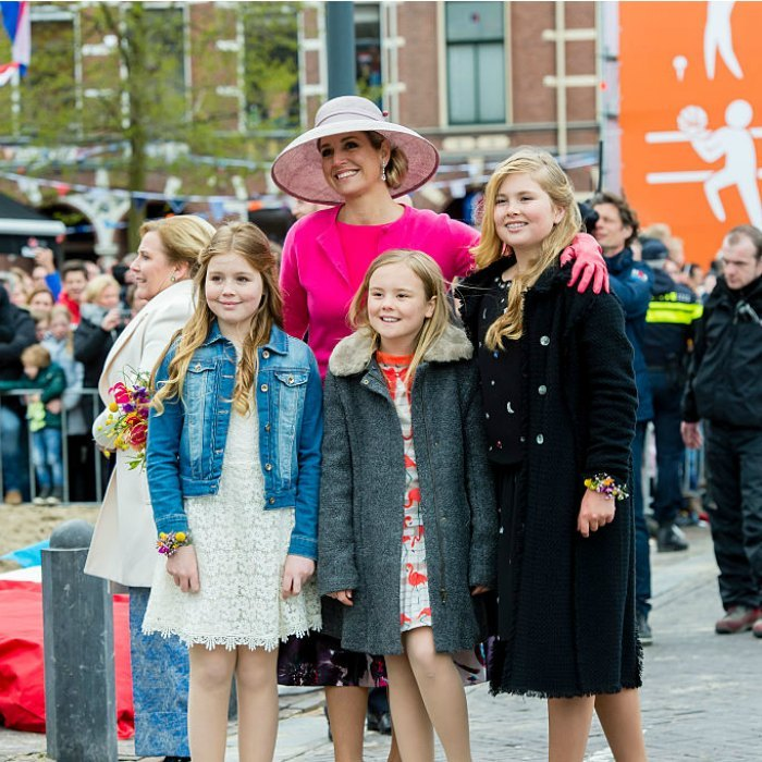 Queen Maxima of the Netherlands shared a sweet moment with her daughters Princesses Alexia, Ariane and Crown Princess Catharina-Amalia.