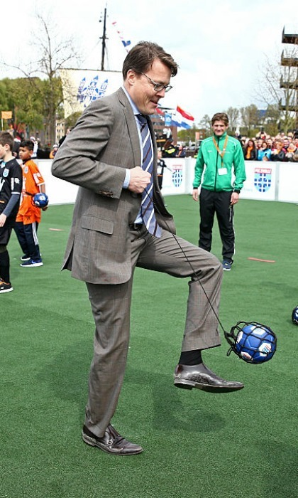 Prince Constantijn of the Netherlands didn't let the birthday boy have all the fun. The 46-year-old enjoyed playing with a soccer ball on his brother's day.