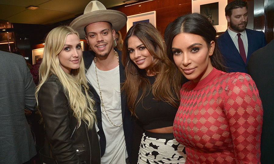 April 28: Ashlee Simpson Ross, Evan Ross, Carla DiBello and Kim Kardashian supported Naomi Campbell at the launch of her new book <i>Naomi</i> in Beverly Hills. 