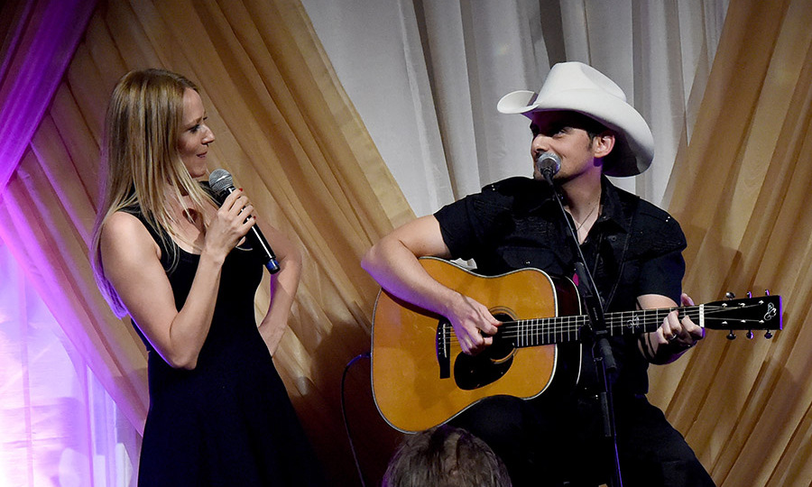 April 27: Two makes a duet! Jewel and Brad Paisley performed onstage during the 1st Annual Nashville Shines for Haiti concert benefiting J/P Haitian Relief Organization in Nashville. 