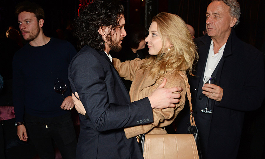 April 26: Game of hugs! Kit Harington and Natalie Dormer hugged it out during the Gala Night performance of <i>Doctor Faustus</i> in London. 