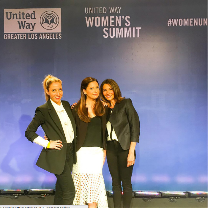 April 25: Ladies first! Sarah Michelle Gellar, Galit Laibow and Gia Russo spoke on a panel during the United Way of Greater Los Angeles Women's Summit in L.A.