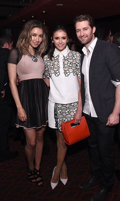 April 29: Pre party!  Renee Morrison, Nina Dobrev and Matthew Morrison posed for a picture during Eric Podwall's exclusive cocktail experience the evening before the White House Correspondents' Dinner at Sheppard in Washington D.C. 