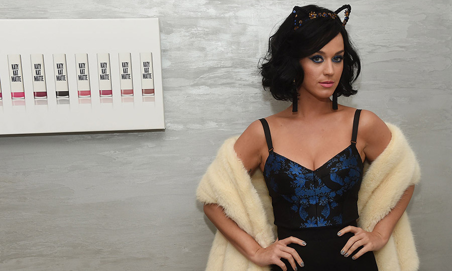 May 1: Purrfect color! Katy Perry celebrated the lauch of COVERGIRL Katy Kat Matte at The Waterfall Mansion in NYC. 